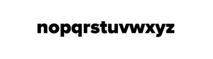 Proxima Nova Black Font LOWERCASE