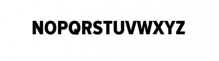 Proxima Nova Cond Subset 1 Condensed Extra Bold Font UPPERCASE