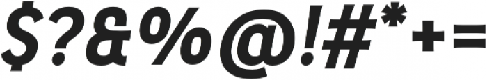 Pseudonym Bold Italic otf (700) Font OTHER CHARS