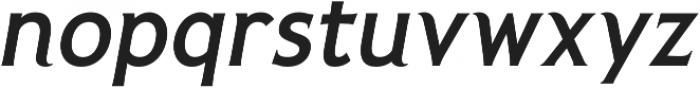 Pseudonym Medium Italic otf (500) Font LOWERCASE