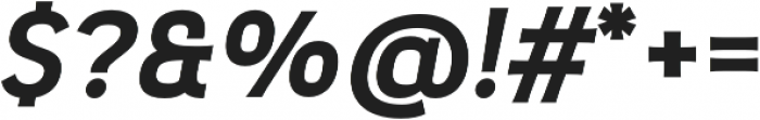 Pseudonym Wide Bold Italic otf (700) Font OTHER CHARS