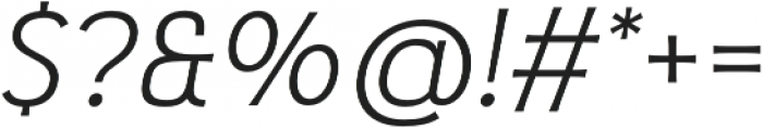 Pseudonym Wide Light Italic otf (300) Font OTHER CHARS
