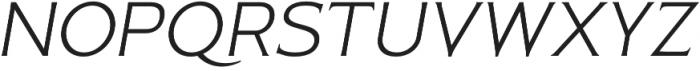 Pseudonym Wide Light Italic otf (300) Font UPPERCASE