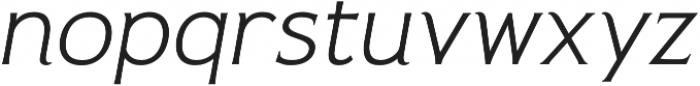 Pseudonym Wide Light Italic otf (300) Font LOWERCASE