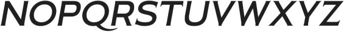 Pseudonym Wide Medium Italic otf (500) Font UPPERCASE
