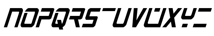 PsYonic VII Bold Condensed Italic Font LOWERCASE