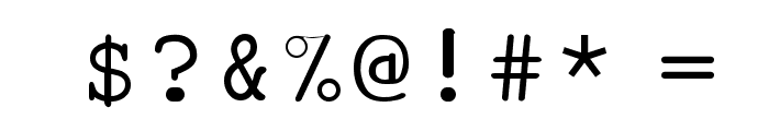 Pseudo-APL Font OTHER CHARS