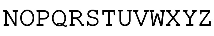Pseudo-APL Font UPPERCASE