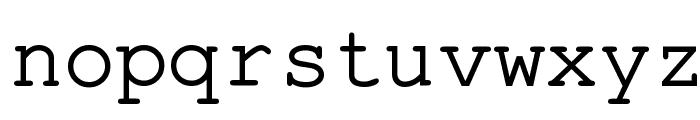 Pseudo-APL Font LOWERCASE