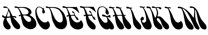 Psychadelic Regular Font UPPERCASE