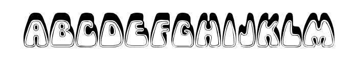 Psychedelic Font LOWERCASE
