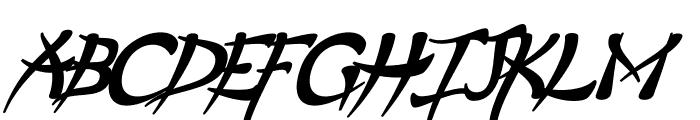 Psycho Bold Italic Font UPPERCASE