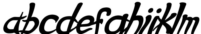 Psycho Bold Italic Font LOWERCASE