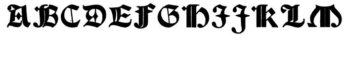 Psalter Gotisch Bold Regular Font UPPERCASE
