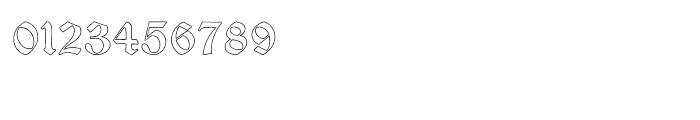 Psalter Gotisch Outline Regular Font OTHER CHARS