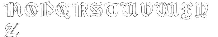 Psalter Gotisch Outline Regular Font UPPERCASE