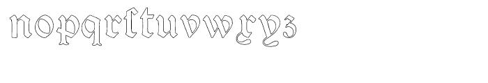 Psalter Gotisch Outline Regular Font LOWERCASE