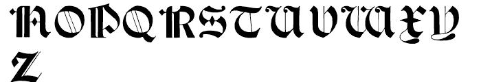 Psalter Gotisch Regular Font UPPERCASE