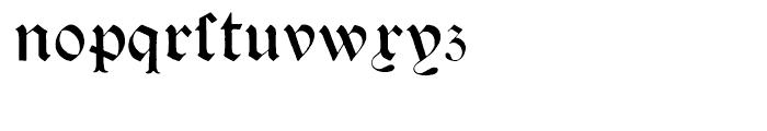Psalter Gotisch Regular Font LOWERCASE