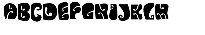 Psychedelic Avalon Font UPPERCASE