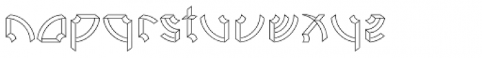 Ps Rooster 1 Light Font LOWERCASE