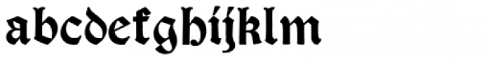 Psalter Gotisch Bold Font LOWERCASE