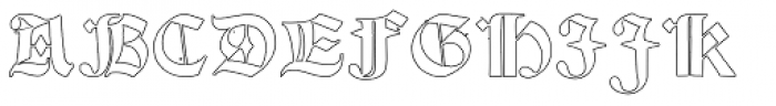 Psalter Gotisch Outline Font UPPERCASE