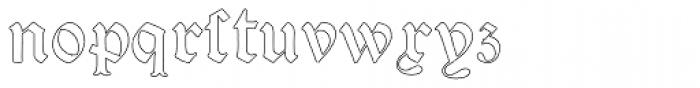Psalter Gotisch Outline Font LOWERCASE