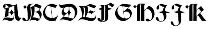 Psalter Gotisch Font UPPERCASE