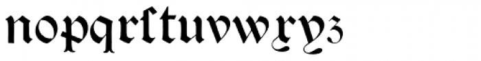 Psalter Gotisch Font LOWERCASE