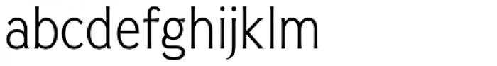 Pseudonym Narrow Light Font LOWERCASE
