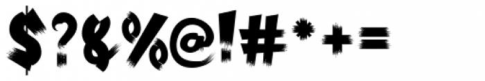 Psychobilly Regular Font OTHER CHARS