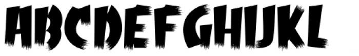 Psychobilly Regular Font UPPERCASE