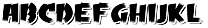 Psychobilly Shadow Font LOWERCASE