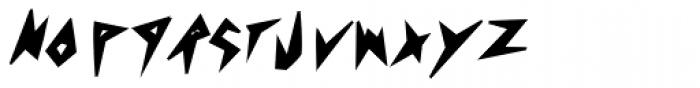 Psychomonster Bold Italic Font LOWERCASE