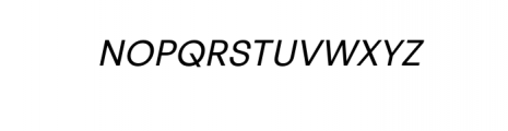 PT Areka Nova Italic.otf Font UPPERCASE