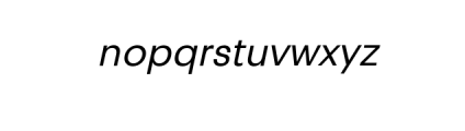 PT Areka Nova Italic.otf Font LOWERCASE