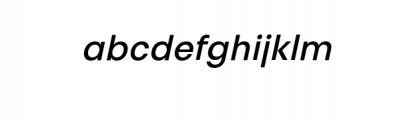 PT Areka Nova Medium Italic.otf Font LOWERCASE