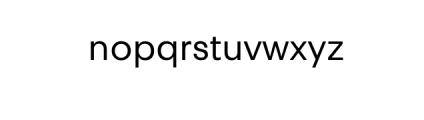 PT Areka Nova Regular.otf Font LOWERCASE