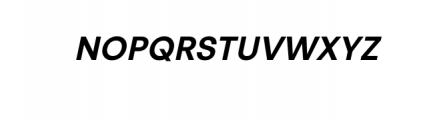 PT Areka Nova Semibold Italic.otf Font UPPERCASE