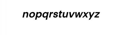 PT Areka Nova Semibold Italic.otf Font LOWERCASE