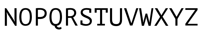 PT Mono Font UPPERCASE