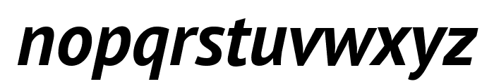 PT Sans Bold Italic Font LOWERCASE