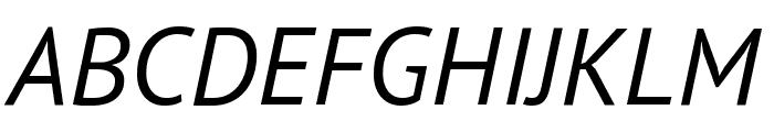 PT Sans Italic Font UPPERCASE