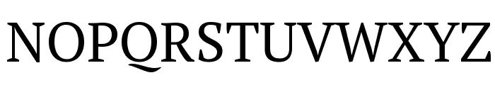 PT Serif Font UPPERCASE