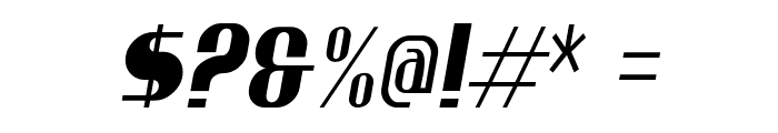 Ptarmigan Condensed Italic Font OTHER CHARS
