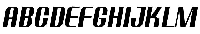 Ptarmigan Condensed Italic Font UPPERCASE