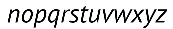 PT Sans Italic Font LOWERCASE