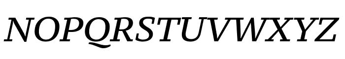 PT Serif Caption Italic Font UPPERCASE