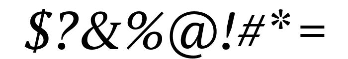 PT Serif Italic Font OTHER CHARS